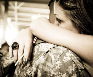 love, girl, and military image