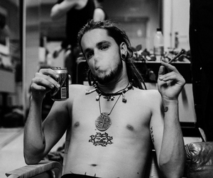 black and white, dreads, and smoke image