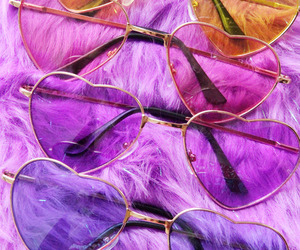 sunglasses, pink, and purple image