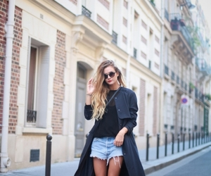 blonde, long hair, and street image