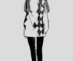 661 images about anime black and white girl on we heart it see