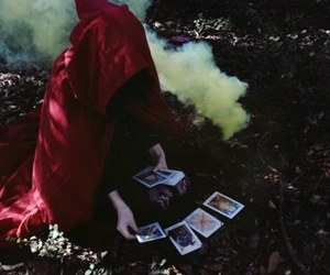 tarot, cards, and forest image
