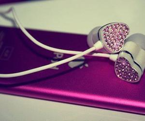 hearts, ipod, and music image