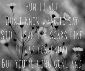 black and white, Lyrics, and sad image