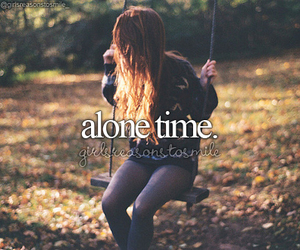 alone, girl, and time image