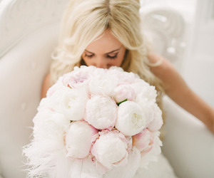 flowers, wedding, and pink image