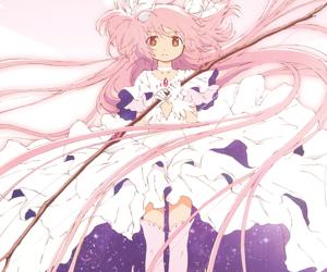 anime, madoka kaname, and madoka magica image
