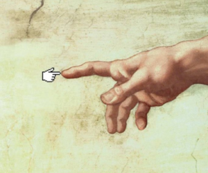 art, funny, and hand image