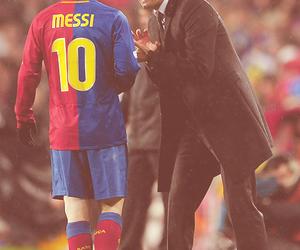 leo messi, pep guardiola, and fc barcelona image