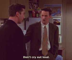 chandler bing, cry, and David Schwimmer image
