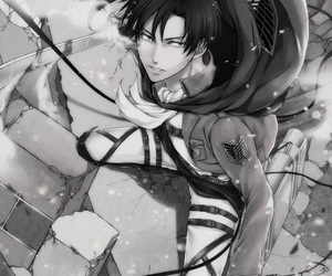 levi, snk, and shingeki no kyojin image
