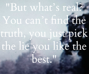 quote, lies, and truth image