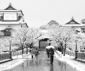 beautiful, japan, and snow image