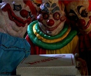 pizza, killer clowns, and killer klowns image