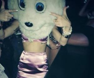 miley cyrus, party, and pink image