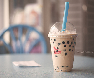 bubble tea, drink, and cute image