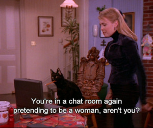 blonde, sabrina the teenage witch, and cat image