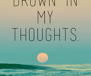 beautiful, ocean, and quote image