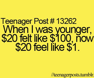 money, teenager post, and true image