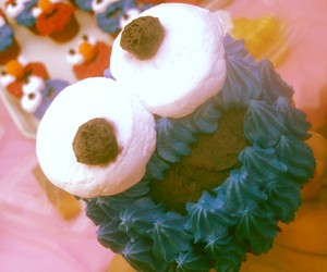 blue, cupcake, and sesame street image