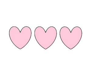 hearts and pretty in pink image