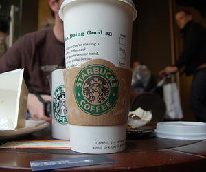 starbucks, yum, and coffee image