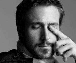 actor, black and white, and ryan gosling image