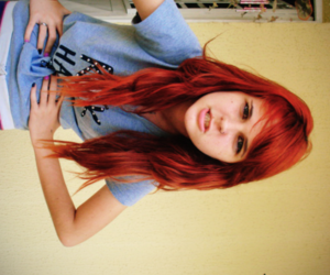 beautiful, girl, and red hair image