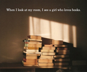 books, girl, and me image