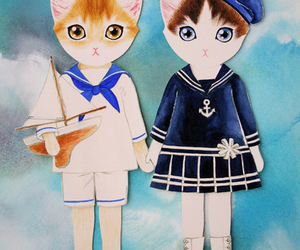 cat, sailor, and kitty image