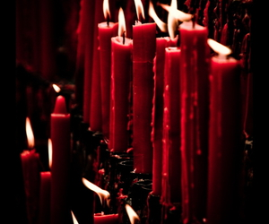 black, red, and candles image