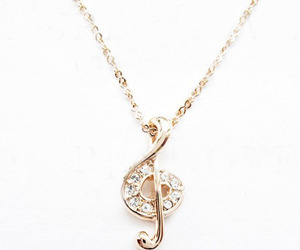 diamond, golden, and necklace image