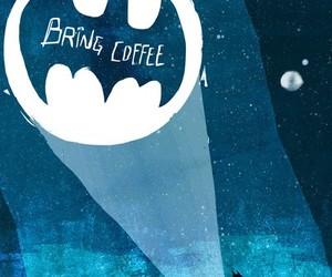 batman, funny, and coffee image