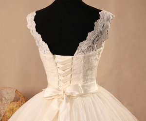 beauty, fashion, and wedding dress image