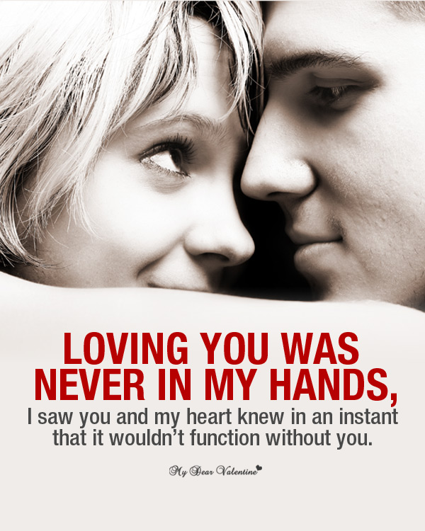 Loving you was never - Love Picture Quotes For Him