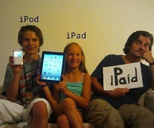 :D, dad, and ipod image