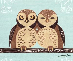 drawing, illustration, and owl image