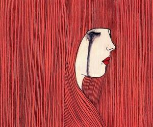 art, hair, and illustration image