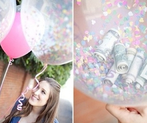 balloons, money, and pretty image