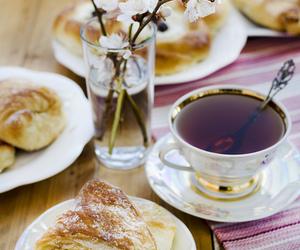 tea, breakfast, and flowers image