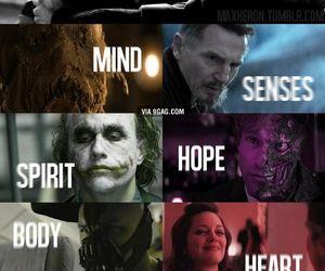 batman, joker, and heart image