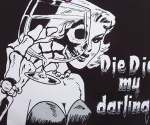 die, misfits, and black and white image
