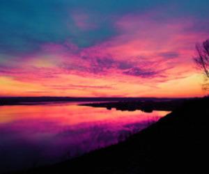 sunset, beautiful, and pretty image