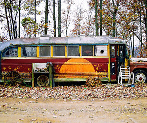 bus and hippie image