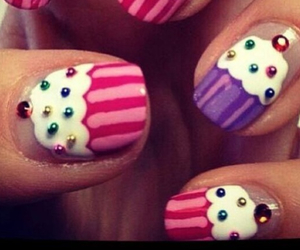 cupcake, nails, and cute image
