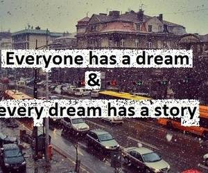 Dream, story, and true image