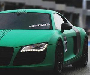 car, audi, and green image