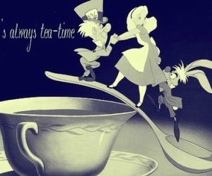alice in wonderland, disney, and mad hatter image