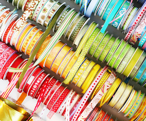 ribbon, blue, and colors image