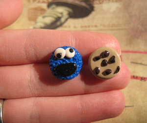 polymer clay, sesame street, and stud earrings image
